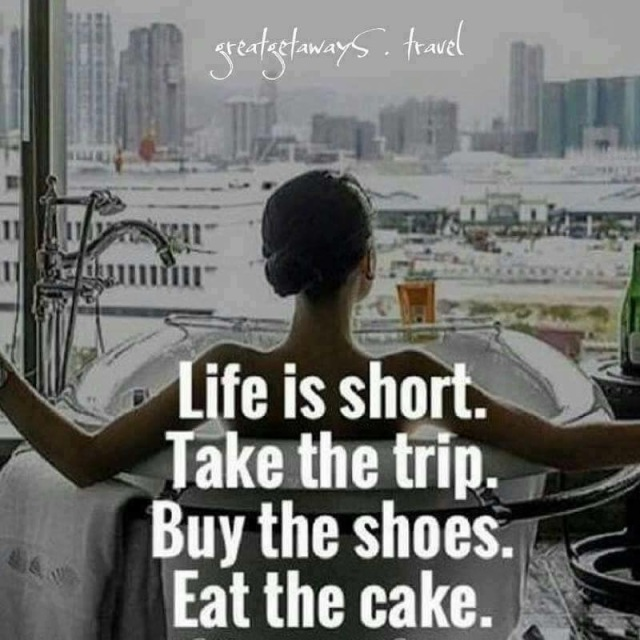 Life is short eat the cake meme
