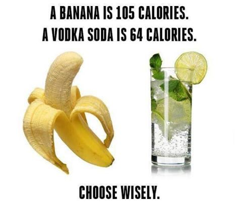 Banana versus Vodka Soda