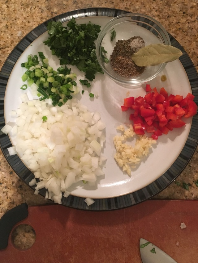 Prep your ingredients Mise en place