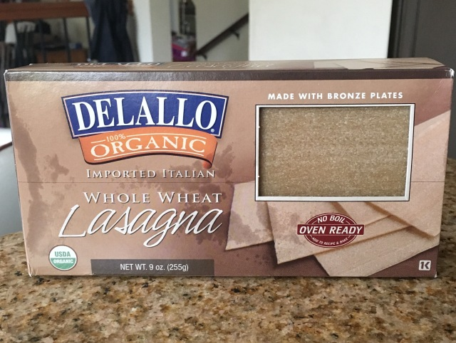 Delallo Organic Whole Wheat Lasagna