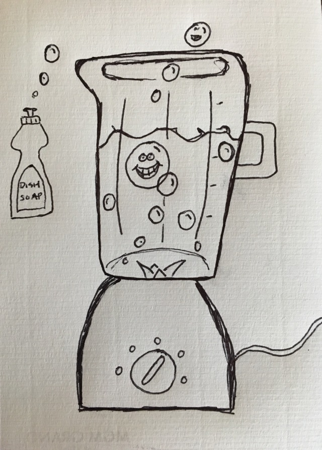 How to clean your blender doodle