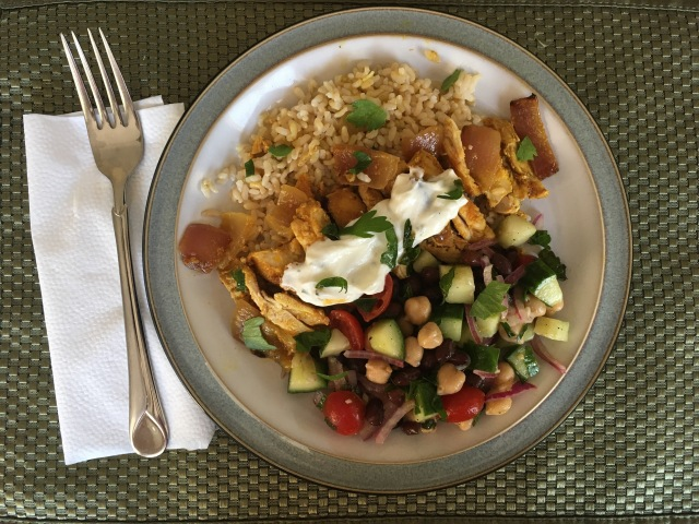 Chicken Shawarma and Meditteranean Bean Salad